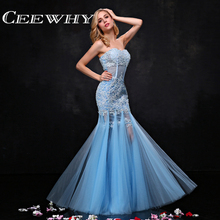 CEEWHY Custom Size Evening Dress Trumpet Mermaid Prom Dress