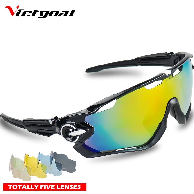 UV400 VICTGOAL Ciclismo Óculos Polarizados Homens Mulheres Ciclismo Óculos  Óculos de Bicicleta óculos de Sol Esportivos Correndo Pesca MTB 5 Lente 664b934a8d