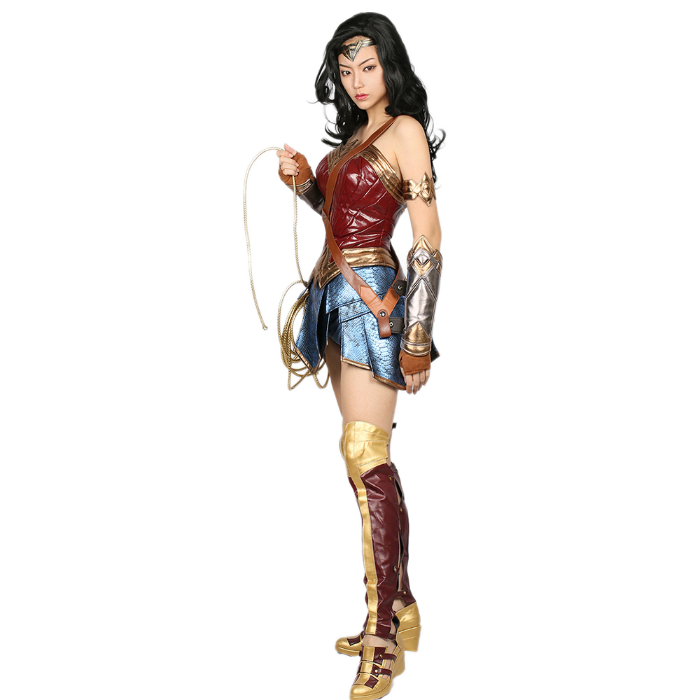 XCOSER Wonder Woman Costume DC Comic Superhero Cosplay Outfit Sull ... fbd683189958