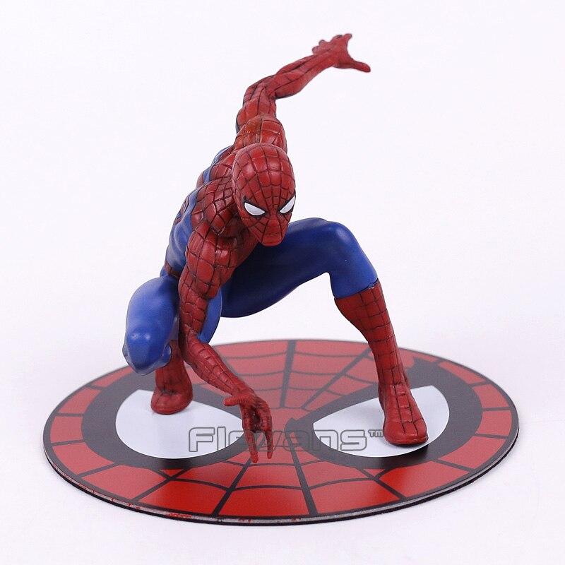 Cool ! Marvel Super Hero The Amazing Spider-man Spiderman PVC Figure Collectible Model Toy 10cm пластилин spider man 10 цветов