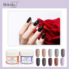 BELESKY Dipping Powder Gradient French Nail Color Glitter Without Lamp Cure Art Decorations (D041-D060)