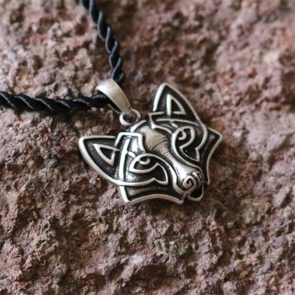 1pcs wholesale Ethnic Fox Pendant,handmade tribal fox, celt fox's head necklace animal amulet jewelry