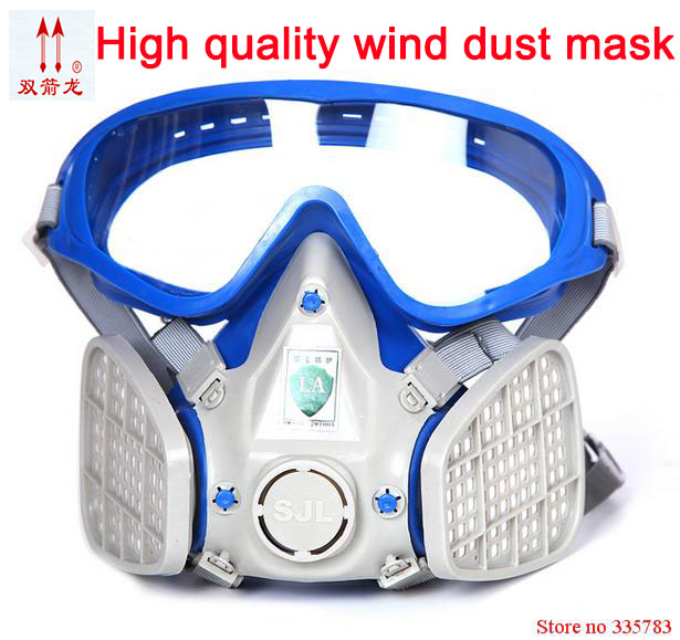High quality respirator dust mask polishing dust Coal dust Silica dust respirator mask wind Eye protector efficient welding mask high quality airsoft mask pc the lens used for cs welding polishing dust the face protect mask splash proof material safety mask