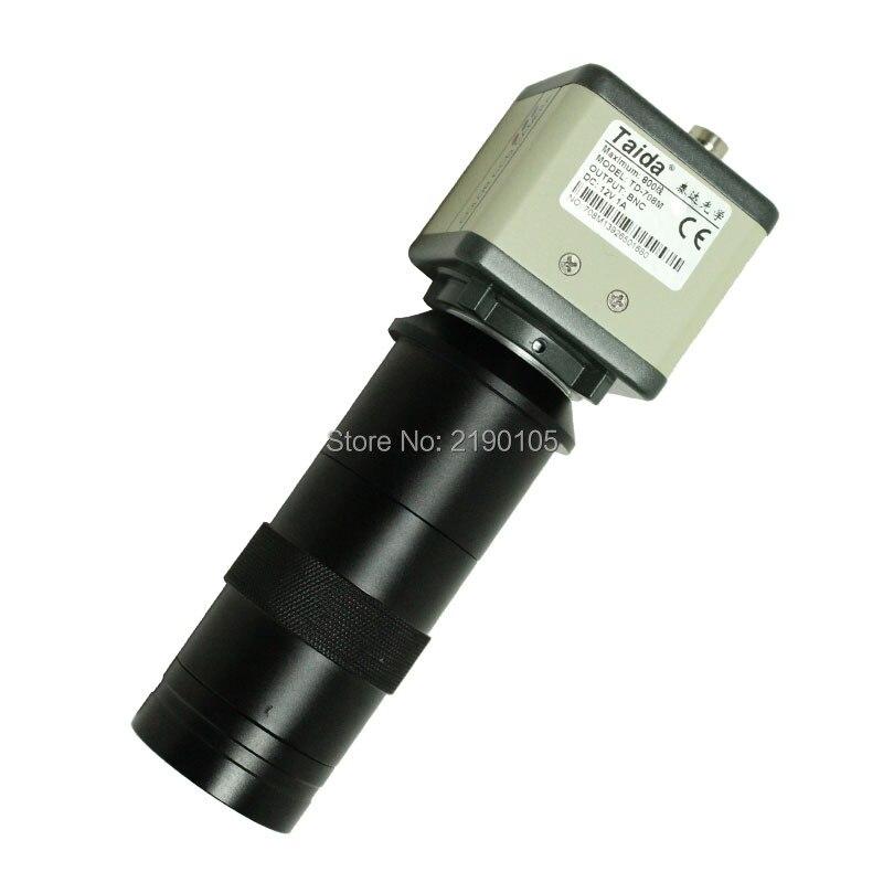 ФОТО 800TVL 1/3 CCD Numerique Industrie Microscope Camera + 130X C-Monture BNC Couleur Video Sortie pour Lindustrie Lab PCB