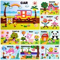 16 style/Lot DIY Cartoon Animal 3D EVA Foam Sticker Puzzle Early Learning Education Toys for Children