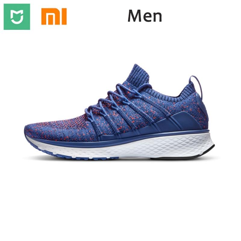 2018 New Original Xiaomi Sports Shoes Men Running Shoes Mesh Breathable Men S Sports Slip Wear