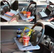 Universal High Quality Car Laptop Stand Notebook Desk Steering Wheel Tray Table Food/drink Holder Stand Car Accessories(China)