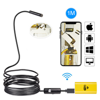720P IOS Wifi Endoscope 8mm Lens 6 LED Wireless Waterproof Android Endoscope Inspection Borescope Camera 1M