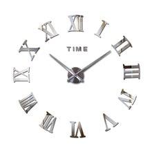special offer 3d  acrylic mirror wall clock diy quartz watch clocks modern home decoration mirrors for living room