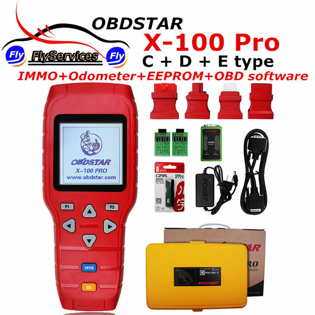 X100 PRO Auto Key Programmer IMMOBILISER & Odometer & EEprom Adapter (C+D+E Model) OBDSTAR X-100 PRO Key Programmer X 100 Pro