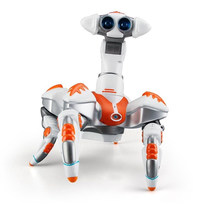 Di controllo remoto del robot giocattolo educativo modello di danza musica elettrica rotante e la danza Leggero robot Elettronico per il regalo del capretto