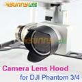 Camera Lens Hood Sombrinha Antiglare para DJI Fantasma 4/3 Preto 1 pc