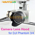 Camera Lens Hood Sunshade Antiglare for DJI Phantom 4/3 Black 1pc