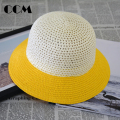 Children Straw Hat  2016 Fashion Panama Beach Sun Jazz Hat Solid Hollow Summer Cap Girl Caps Fedoras Baby New Straw Fishing Hat