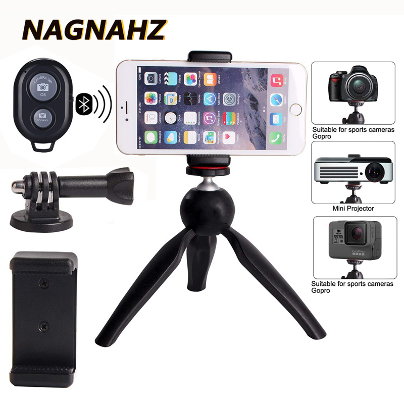 Nagnahz Premium Phone Tripod Camera Stand Mini Selfie Hand Portable Tripode For IPad IPhone Gopro Mobile Phon Dslr Video Camera