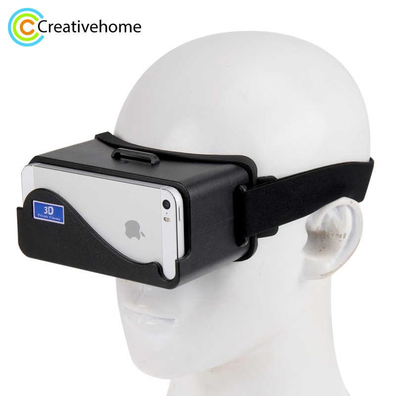 Новый DIY Google Cardboard виртуальной реальности VR мобильного телефона 3D  очки по неофициальный картона 3D Фильмы 4ad571e9bf7