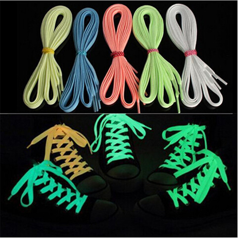 1 pair/lot light <font><b>Shoelace</b></font> Glowing Casual <font><b>Led</b></font> Shoes Strings Party <font><b>Shoelaces</b></font> For Growing Shoes Canvas Athletic Shoes glowsticks