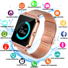 купить Hot sale Bluetooth Smart Watch Z60 Men Women Bluetooth 2G Smartwatch Support SIM/TF Card Wristwatch For IOS Android Phone pk p68 по цене 772.46 рублей