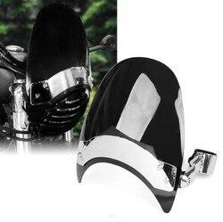Dark 38-45mm szyba przednia motocykla dla Harley Sportster XL883 1200 ND Moto