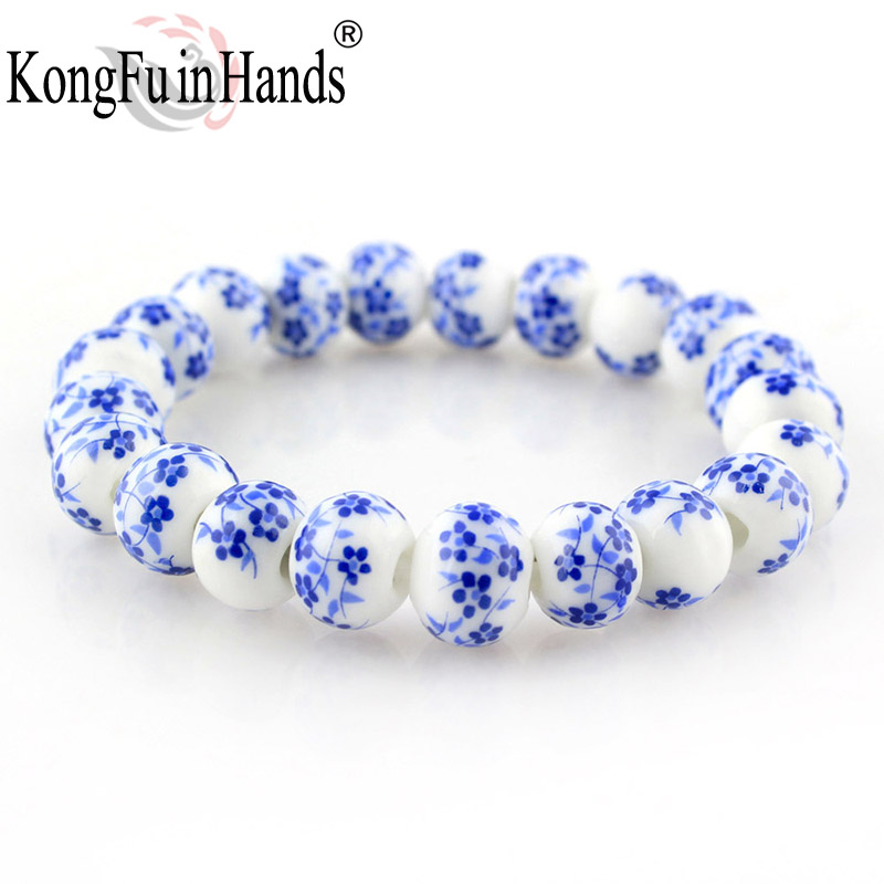 Blue and White Porcelain Beads Gelang OL Style Ceramic accessories made in china free shipping Hadiah Kreatif Kilang harga