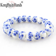 Blue and White Porcelain Beads Bracelet OL Style Ceramics accessories made in china free shipping Creative Gifts Factory price(China)