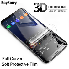 3D Full Curved Screen Protector Film For Samsung Galaxy Note 9 8 S7 S6 Edge Protective film For Samsung S9 S8 Plus ( Not Glass ) все цены