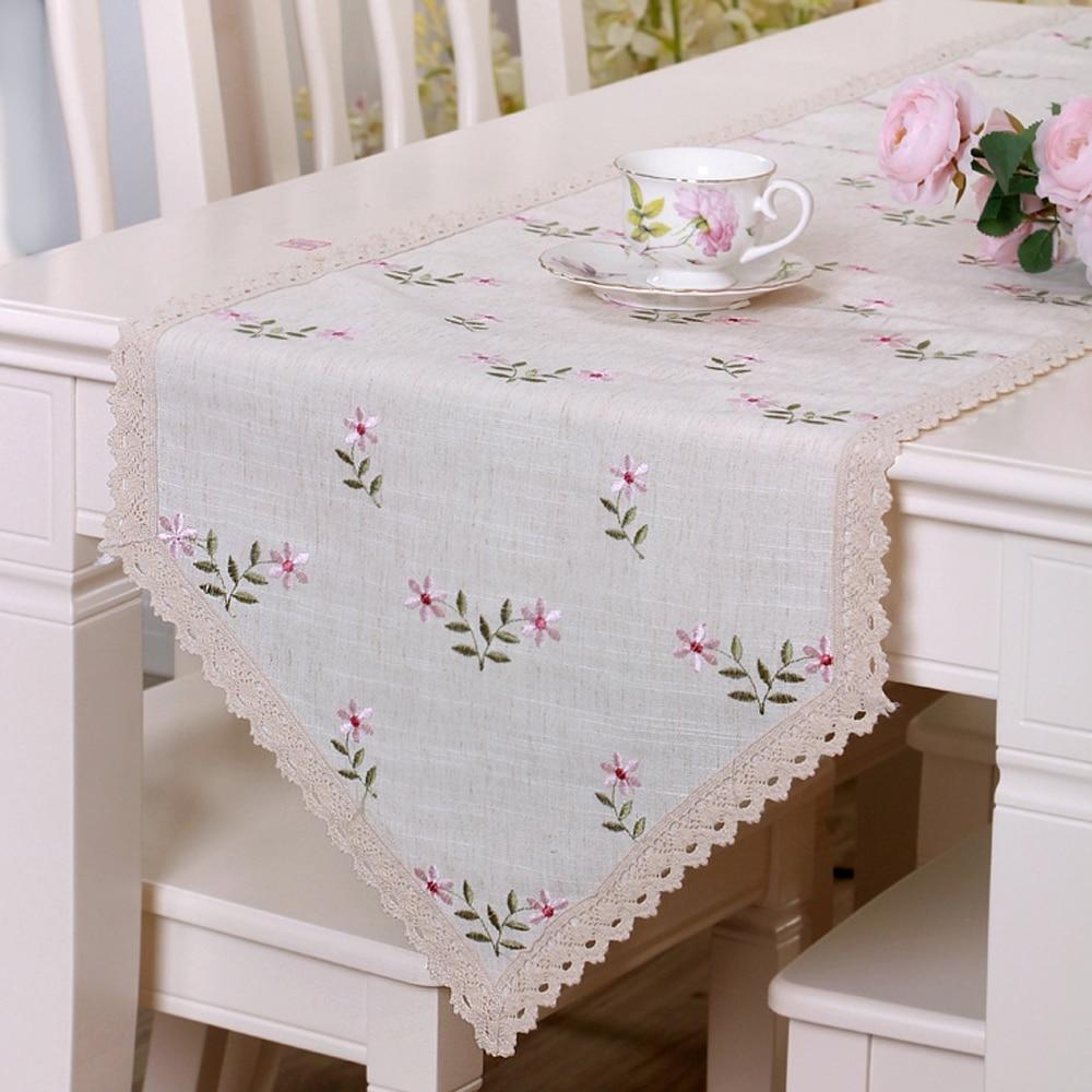 yazi ricamato fiore foglia tabella del merletto corridore festa di nozze cucina casa decor table 5