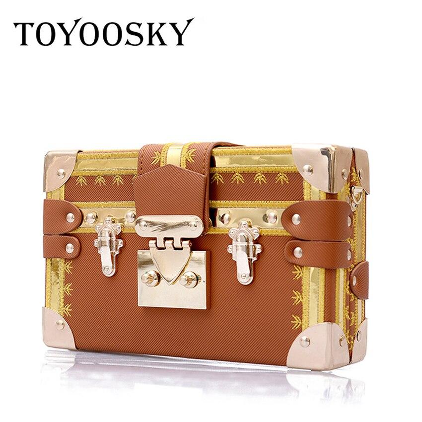TOYOOSKY marca famosa caja del remache bolsos de las mujeres Mini cubo diseño Original de la marca Crossbody bolsos para las mujeres Messenger bolso principal