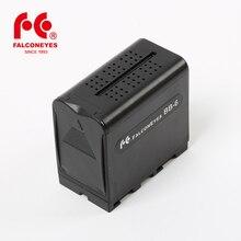FALCON Mắt 6 Pin AA Ốp Lưng Gói Điện Thay Thế như NP F970 cho Đèn LED Video Bảng Điều Khiển hoặc Moniter Dự Phòng pin