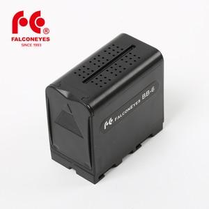 Image 1 - Falcon oczy 6 sztuk baterii AA pakiet przypadku wymiana zasilania jak NP F970 dla Led lampa wideo panelu lub Moniter tworzenia kopii zapasowych baterii