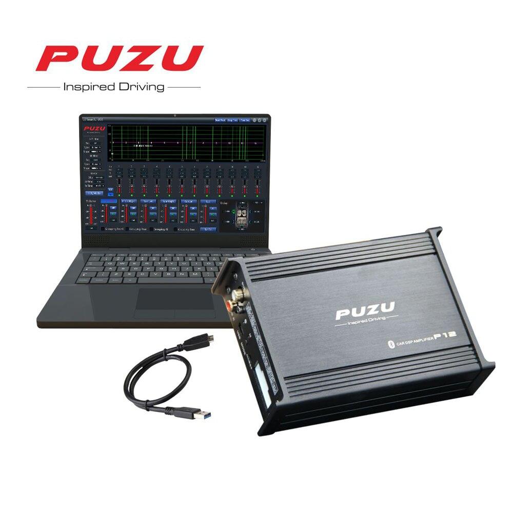PUZU автомобиля DSP цифровой усилитель аудио сигнальный процессор 4X100 Вт 12 Группа Android компьютер настройки 4 Каналы W /Bluetooth WI FI