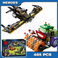 485pcs Super Heroes Batman Movie The Joker Steam Roller ROBIN 10228 amazing mysterious Building Blocks Toy Compatible with Lego