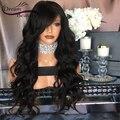 180% Pelucas Llenas Del Cordón Glueless Onda Del Cuerpo Virginal Sin Procesar de Encaje frente Pelucas Malasio Llena Del Cordón Pelucas de Pelo Humano con el Bebé pelo