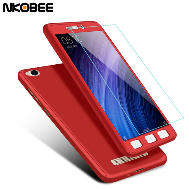 size 40 22e15 82fe5 US $4.74 |NKOBEE Redmi 4A Case For Xiaomi Redmi 4A Case 360 Full Protection  Cover For Xiaomi Redmi 4A Case With Glass Screen Protector-in Fitted Cases  ...
