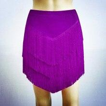 Tassels Latin Dance Clothing  Fringed Skirt Female Adult Children
