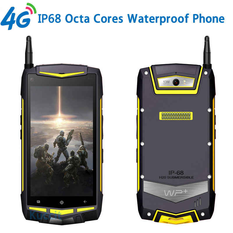 Waterproof Rugged Walkie Talkie Two Way Radio Android 5.1 8 Octa Core UHF 5 inch 4G GPS LTE Fashion Portable Handheld FM Radios
