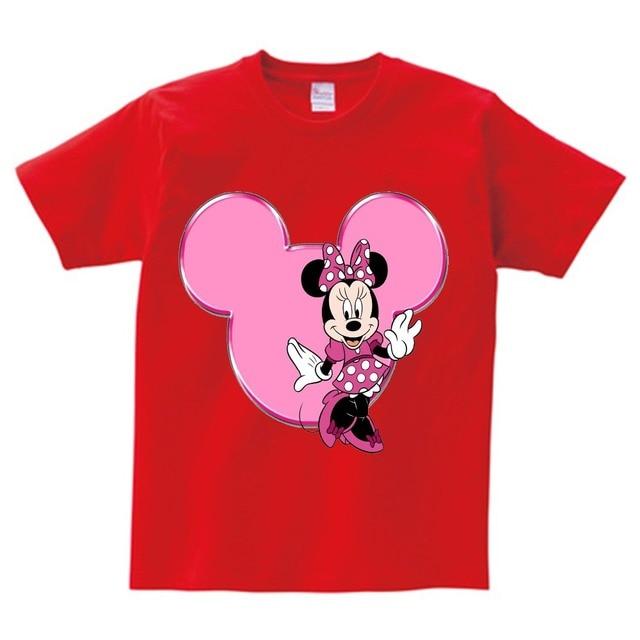 b5261a0e Girls Lovely Minnie mouse Cartoon T shirt kids summer Short Sleeves t shirt  baby 100%cotton T-shirt boy O-Neck tee shirts Mickey