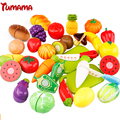 29 pcs/Set Plastic Fruit Vegetable Cutting Kids Kitchen Food Pretend Play Educational Toy Cook Cosplay Safety cocina juguete Qie