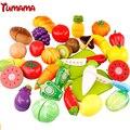 29 unids/set legumbre de fruta de corte de plástico niños cocina comida pretend play cocina cocinero cosplay de seguridad de juguetes educativos juguete qie