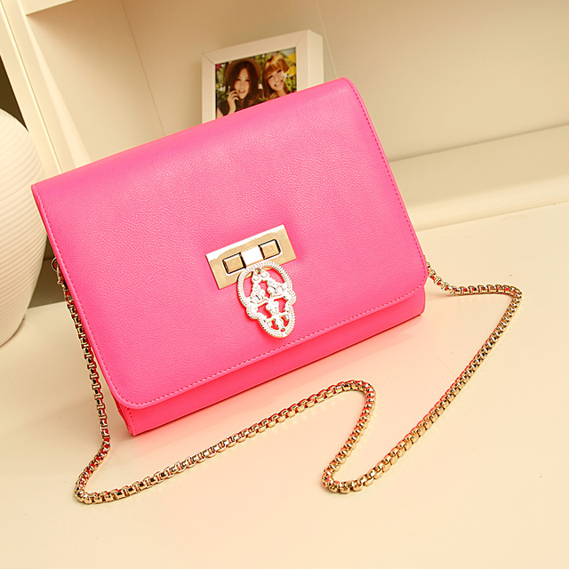 New arrival 2013  female day clutch neon powder chain candy vintage skull bags