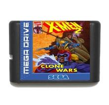 X Men 2 16 Bit Mega Drive Game Card For Sega Genesis Video Game Console