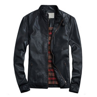 #7 Arrival Mens Leather Suede High Quality Male Leather Jacket Famous Brand Red Leather Jacket Mens China Hot Sale