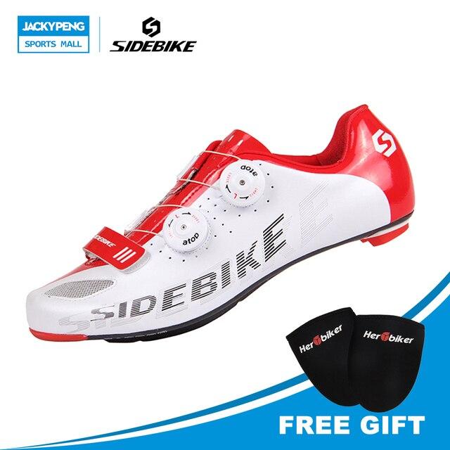 Sidebike Peta Sepeda Sepatu Self-Locking Naik Sepeda Sepatu Karbon Ringan  Jalan Raya Lock Sepatu 95dcfb7970