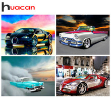 Huacan Diamond Mosaic Car 5d Painting New Arrivals Scenic Embroidery Sale Rhinestones Pictures