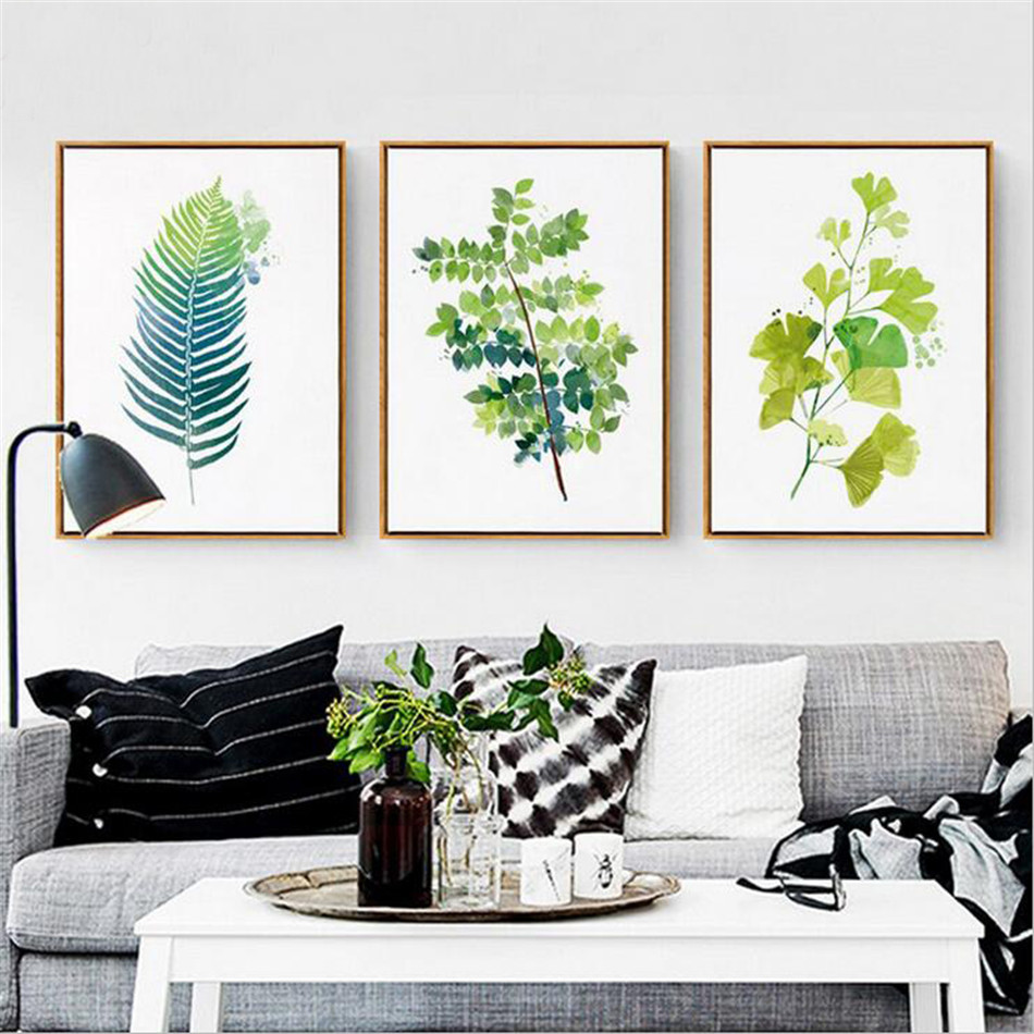 high quality tropical wall decor buy cheap tropical wall decor drop shipping watercolor tropical plant leaves canvas art print poster wall pictures for home decoration giclee