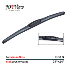 S610 Wipers Size:24+14 Fit For Nissan Note (2006-Onwards) Wiper stand Limpador de para brisa Essuie glace