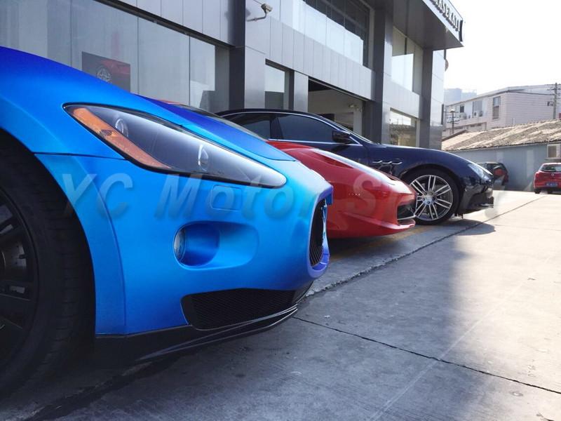 2009-2013 Maserati GranTurismo Sport GTS MC-Sport-Line Style Front Bumper Lip Spliter Dry Carbon (12)