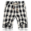 Summer 2017 New Fashion Beach Men'S Shorts Beaded Jewelry Designer Cotton Plaid Shorts Big Size M - 5 Xl