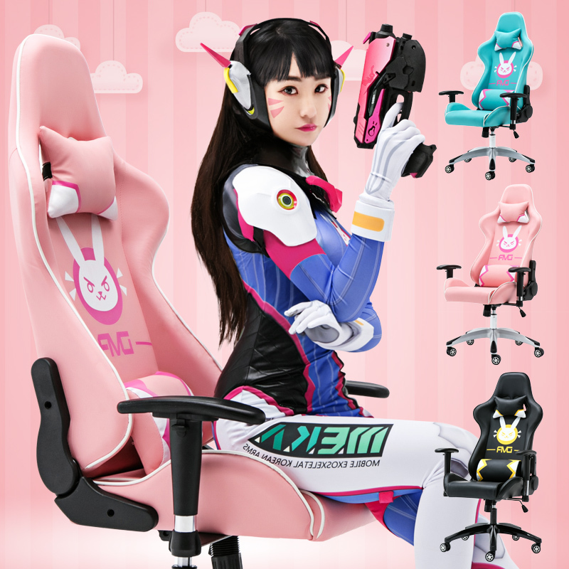 Game European Home Computer Lol Keep Watch Vanguard Dva Pink Colour The Main Sowing Chair(China)