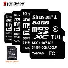 Kingston Micro SD карты SDHC SDXC UHS-I U1 32 ГБ 64 ГБ MicroSD карты C10 карты памяти Class10 карты памяти 32 ГБ для телефона ES наличии